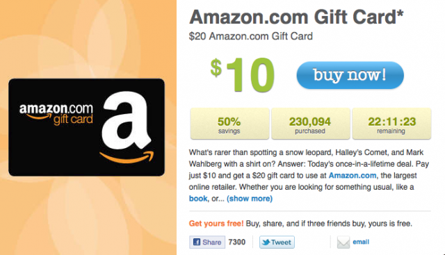 amazon gift card livingsocial