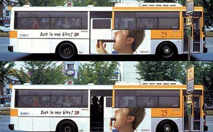 creative ads on buses