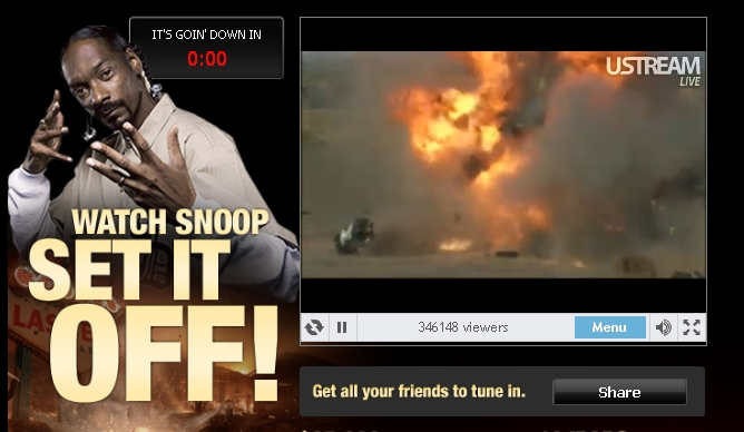 snoop dogg blows up mafia wars truck