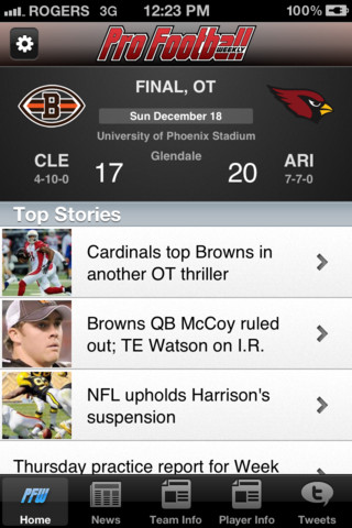 browns football iphone app
