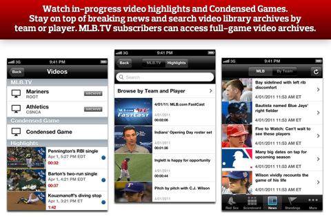MLB.com At Bat 11 screenshot