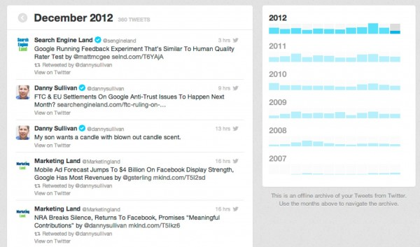 twitter archive viewer