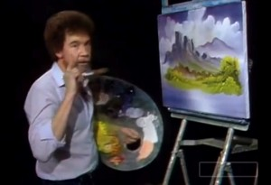 bob ross happy little clouds