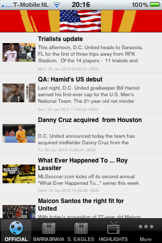 dc united iphone app