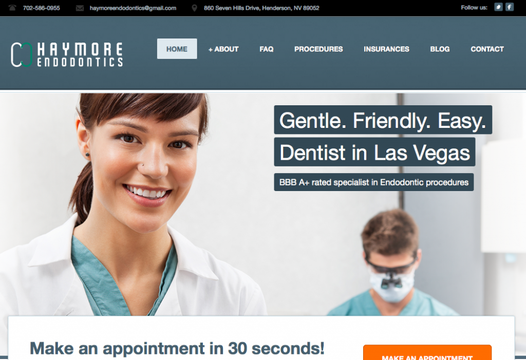 dentist site desktop