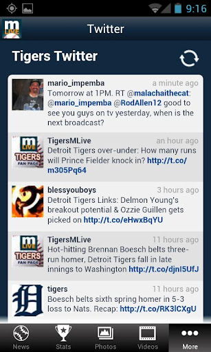 detroit tigers on mlive.com android app