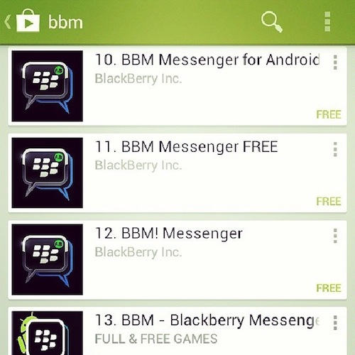 fake blackberry apps