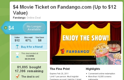 fandango groupon