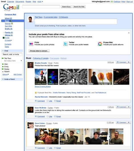 google buzz screenshot