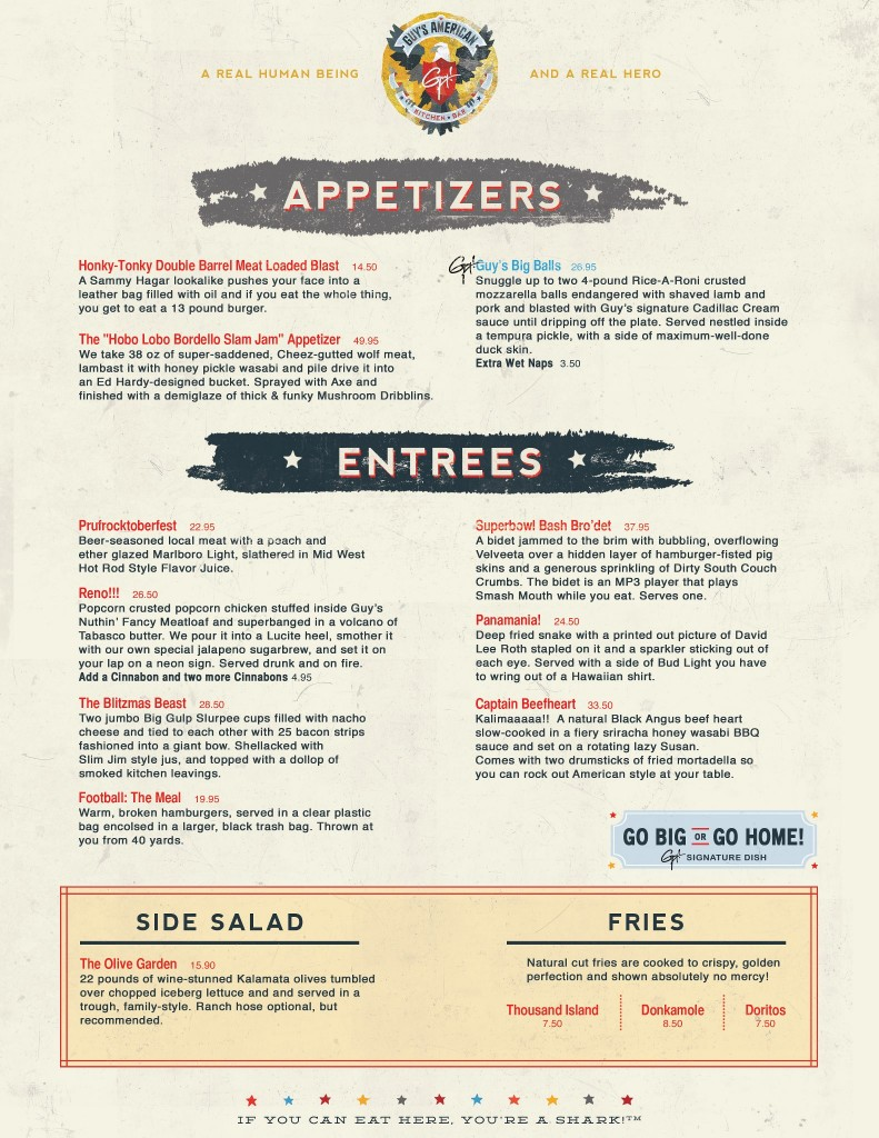 guys american kitchen and bar menu