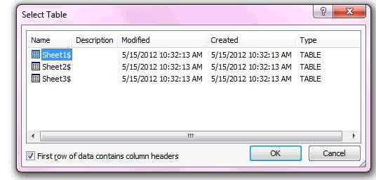 import excel spreadsheet