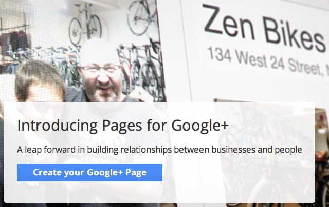 introducing pages for google+