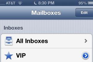 ios6 vip inbox