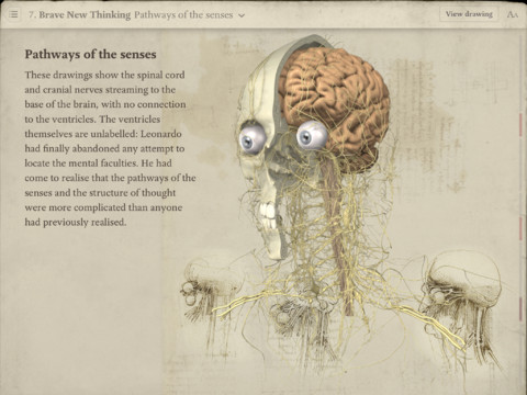 leonardo da vinci anatomy for ipad app