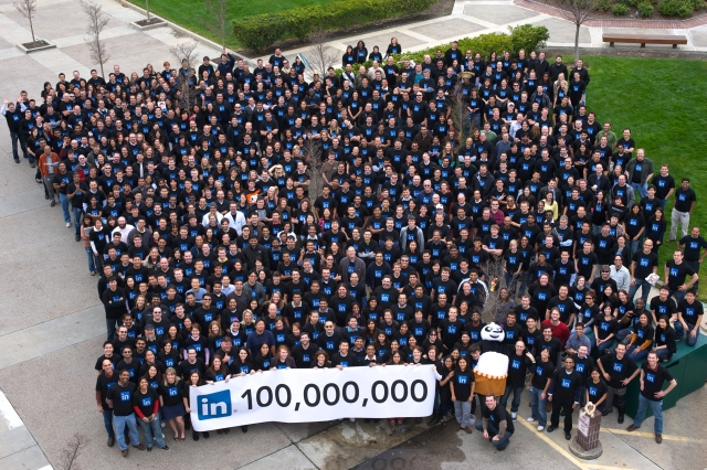 linkedin 100 million users