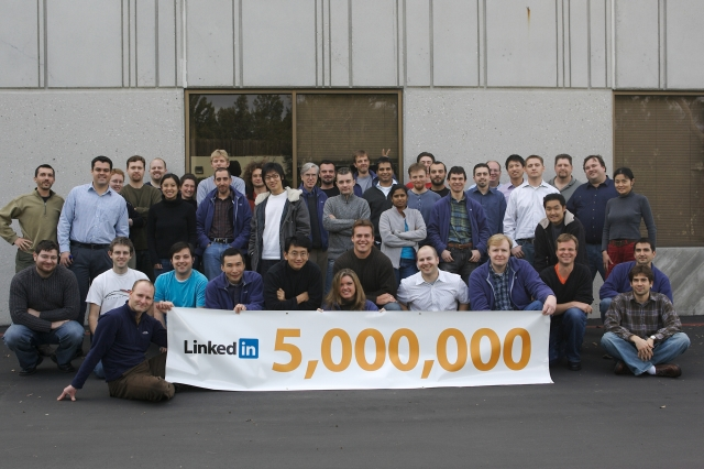 linkedin 5 million users
