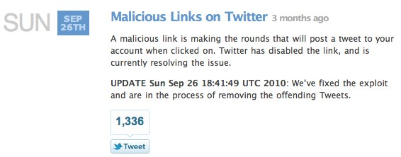 malicious twitter links