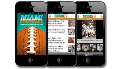 miami football iphone app