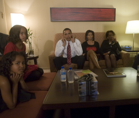 obama watching election results