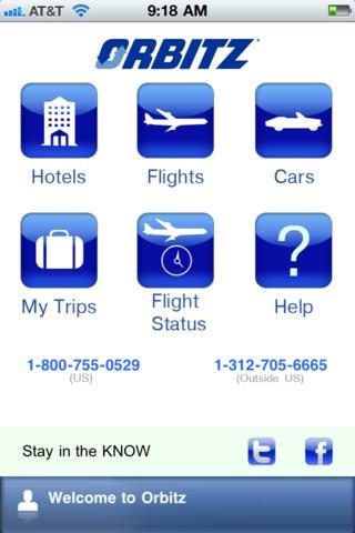 orbitz iphone app