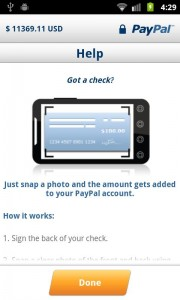 paypal android check