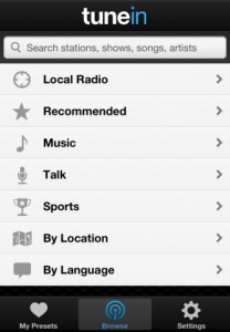 tunein radio iphone