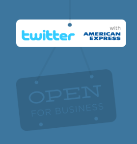 twitter with american express