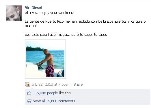 vin diesel latino facebook