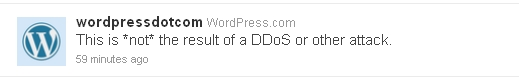 wordpress twitter not ddos attack