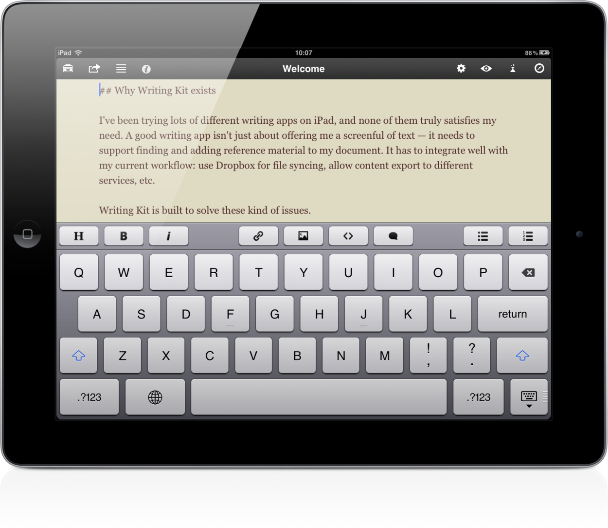 best app for writing papers on ipad Best mobile apps for apps for academics: mobile web sites & apps to save a whole article into instapaper for later reading on your iphone or ipad.