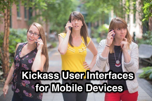 user interfaces for mobile devices